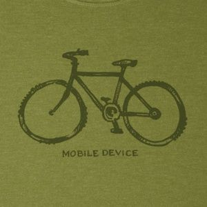 Life is Good NWT Heather Green Mobile Device Tee NWT